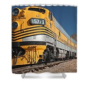 Engine 5771 In The Colorado Railroad Museum Shower Curtain