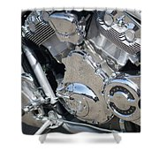 Engine Close-up 3 Shower Curtain