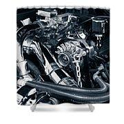 Engine Details Shower Curtain