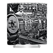 Engine Envy Shower Curtain by Linda Bianic