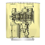 Engine Patent 1920 Shower Curtain