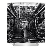 Engine Room Queen Mary 02 Bw 01 Shower Curtain