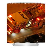 Engine Three  Shower Curtain