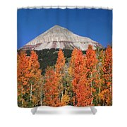 2d10688-engineer Mountain In Fall  Shower Curtain