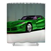 Engines At Work Shower Curtain