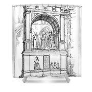 England Church Monument Shower Curtain