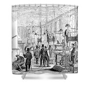 England Currency, 1854 Shower Curtain
