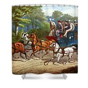 England Road Travel, 1880 Shower Curtain