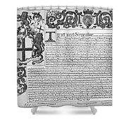 England Trade Charter Shower Curtain