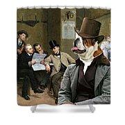 English Bulldog Art - The Latest News Shower Curtain