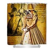 English Bulldog Art Canvas Print  Shower Curtain