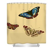 English Butterflies Shower Curtain