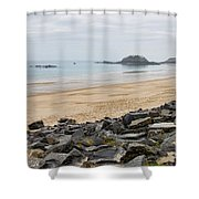English Channel Beach Shower Curtain