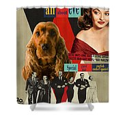 English Cocker Spaniel Art - All About Eve Shower Curtain