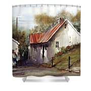 English Country Lane Shower Curtain