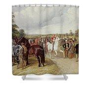 English Horse Fair On Southborough Common Shower Curtain by John Frederick Herring Snr