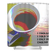 English Tea Shower Curtain