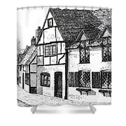 English Village Shower Curtain by Shirley Miller