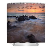 Engulfed By The Waves Shower Curtain