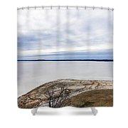 Enid Lake - Winter Landscape Shower Curtain