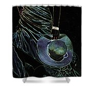 Enigma Shower Curtain by Jenny Rainbow