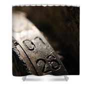 Enigma Numbers Shower Curtain