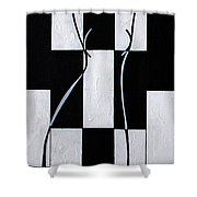 Enigmatic  Shower Curtain