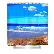 Enjoy The Blue Sea Shower Curtain