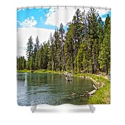 Enjoying Des Chutes River In Des Chutes Nf-or Shower Curtain