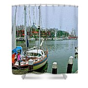 Enkhuizen Marina-netherlands Shower Curtain