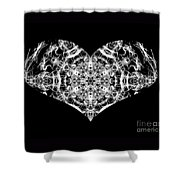 Enlightened Heart Shower Curtain