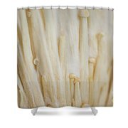 Enoki Mushroom Shower Curtain