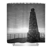 Ensign Peak Nature Park Bw Shower Curtain