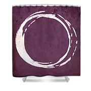 Enso No. 107 Magenta Shower Curtain
