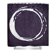 Enso No. 107 Purple Shower Curtain