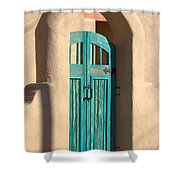 Enter Turquoise Shower Curtain
