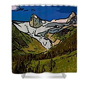 Entering The Bugaboos  2 Shower Curtain