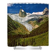 Entering The Bugaboos Impasto Shower Curtain