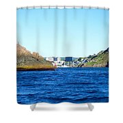 Entering The Narrows Near Fort Amherst Rock By Barbara Griffin Shower Curtain