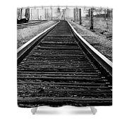 Entering The Train Yard. Washington Dc Shower Curtain