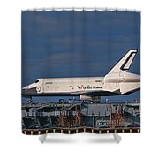 Enterprise At The Intrepid Shower Curtain by S Paul Sahm