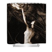 Entities Touch Shower Curtain