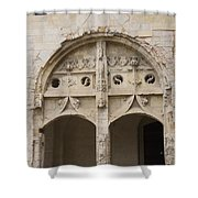 Entrance Fontevraud Abbey- France Shower Curtain