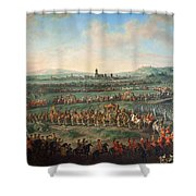 Entrance Of The Emperor Franz I Stephan And His Son Joseph II Into Frankfurt Shower Curtain