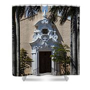 Entrance To Congregational Church Shower Curtain