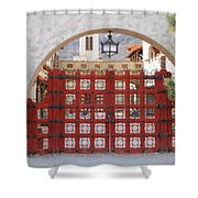 Entrance To Court Yard Shower Curtain
