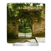 Entrance To Romeo And Juliet House Shower Curtain