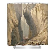 Entrance To The Bolan Pass From Dadur Shower Curtain