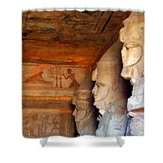 Entrance To The Great Temple Of Ramses II Shower Curtain