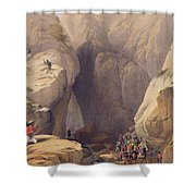 Entrance To The Kojak Pass From Parush Shower Curtain